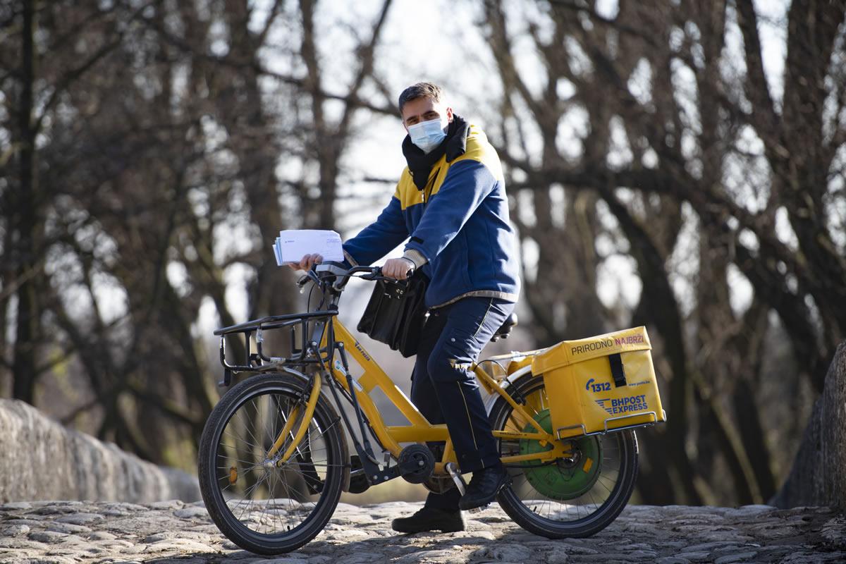 BH Pošta dostava biciklom